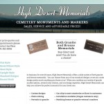 High Desert Memorials Website