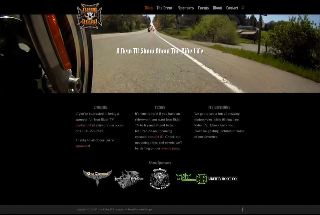 Iron Rider TV website homepage