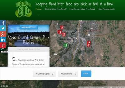 Non Profit Organization Website – Litter Free Bend