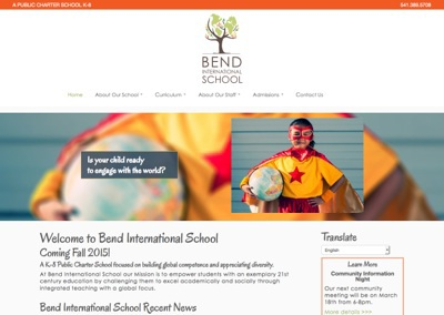 Charter School Website – Bend International School